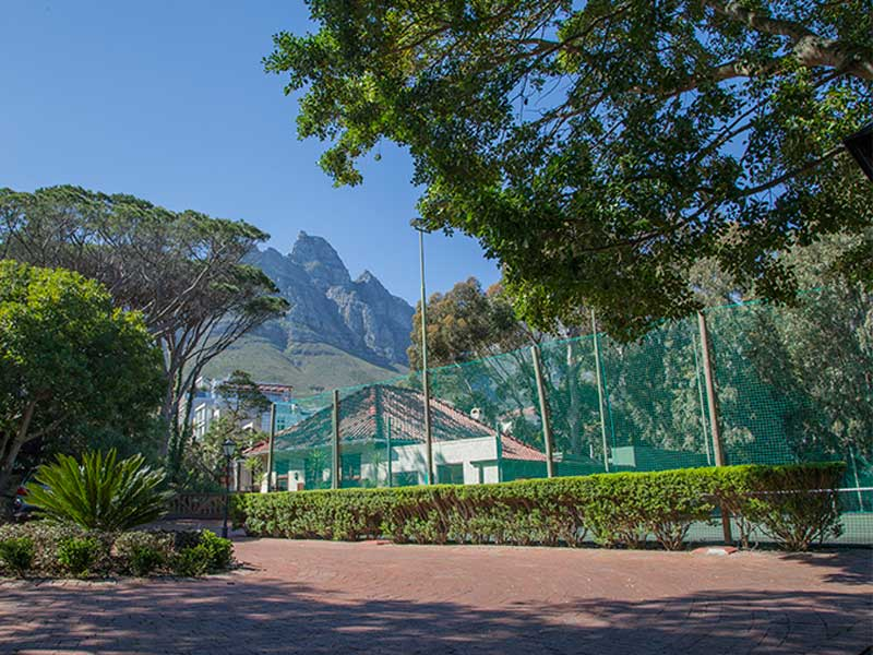 Camps Bay Retreat Tennis Court From Parking
