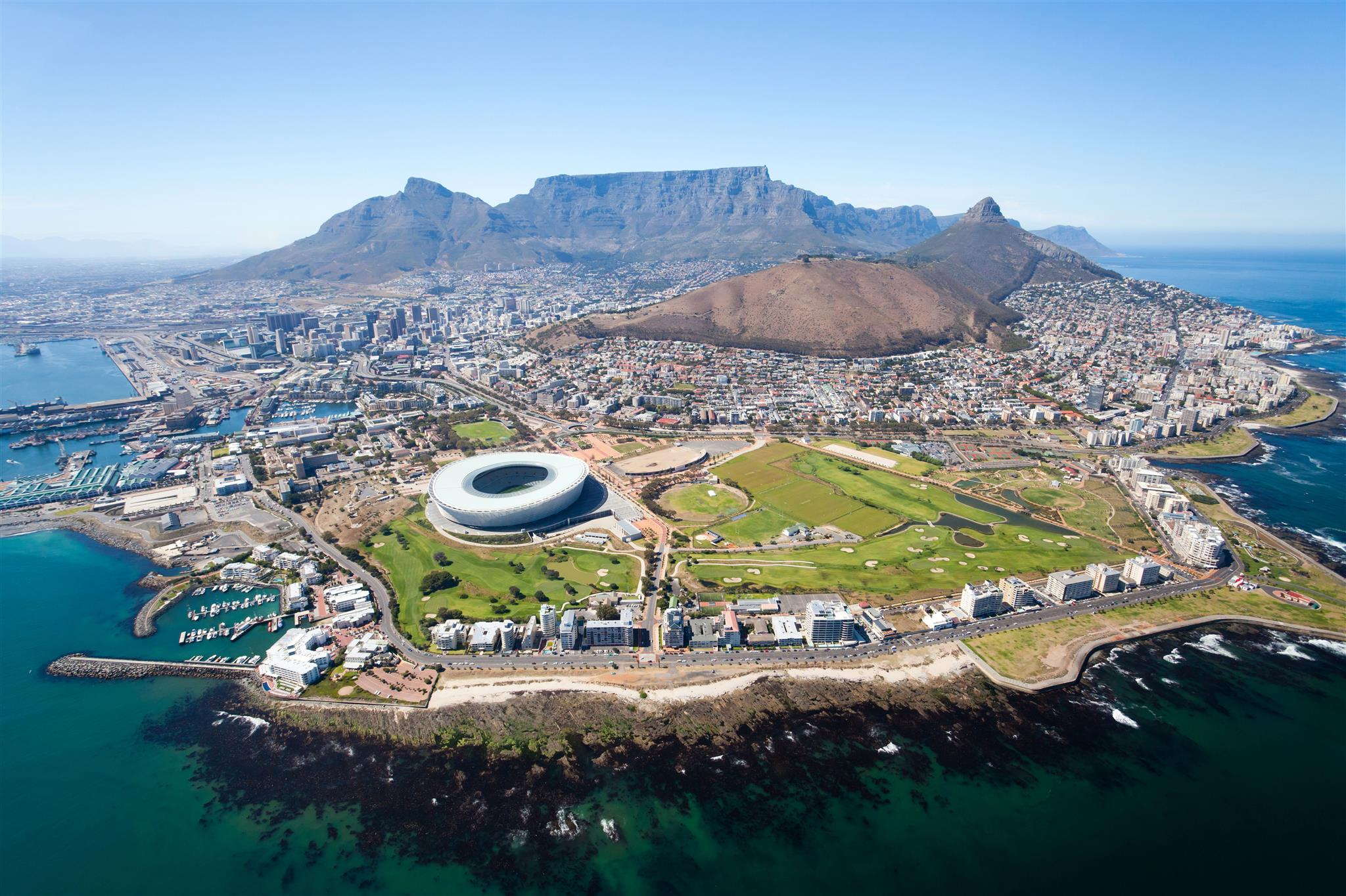 Aerial view of Mouille Point